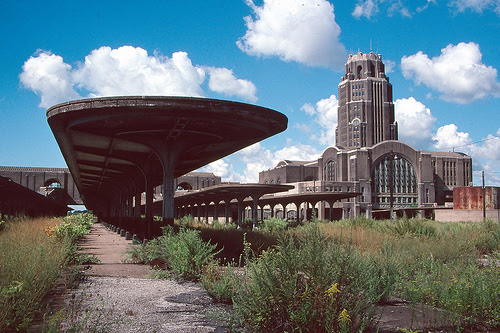 Abandoned central railroad terminal in Buffalo, NY.
